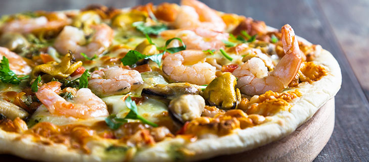 Seafood-and-dill-pizza